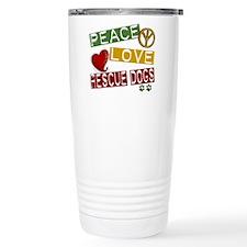 Peace Love Rescue Dogs Travel Coffee Mug