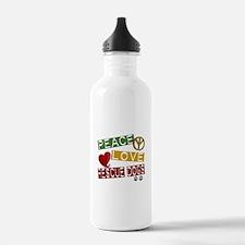 Peace Love Rescue Dogs Water Bottle