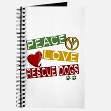 Peace Love Rescue Dogs Journal