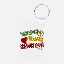 Peace Love Rescue Dogs Keychains