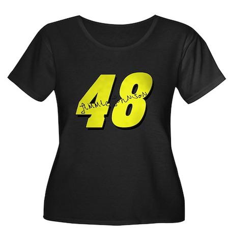 JJ48sig Women's Plus Size Scoop Neck Dark T-Shirt
