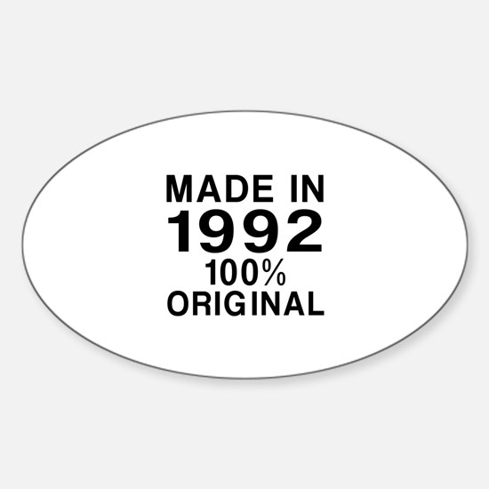 Made In 1992 Sticker (Oval)
