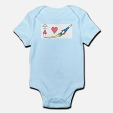 Girls Heart Rockets Infant Bodysuit