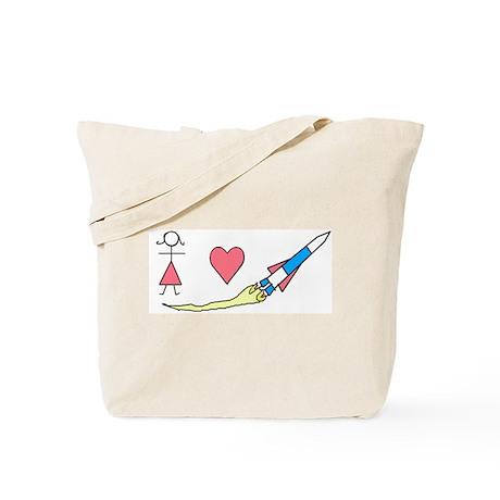 Girls Heart Rockets Tote Bag