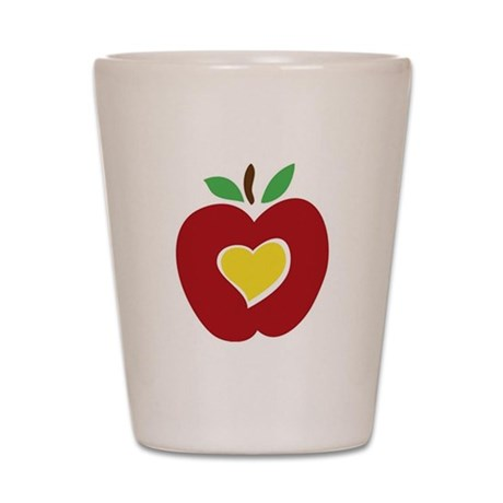Teacher's Apple Shot Glass
