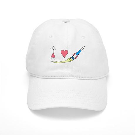 Girls Heart Rockets Cap