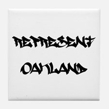 Represent Oakland Tile Coaster