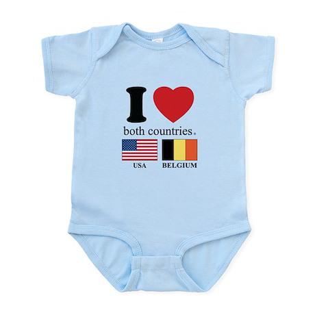 USA-BELGIUM Infant Bodysuit