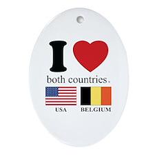 USA-BELGIUM Ornament (Oval)
