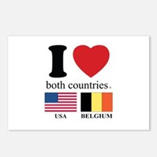 USA-BELGIUM Postcards (Package of 8)