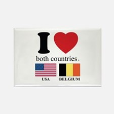 USA-BELGIUM Rectangle Magnet
