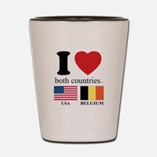 USA-BELGIUM Shot Glass