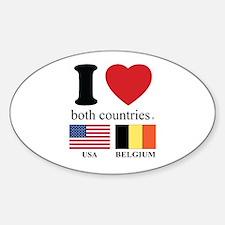 USA-BELGIUM Decal