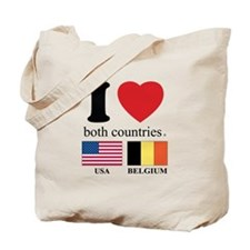USA-BELGIUM Tote Bag