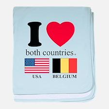 USA-BELGIUM baby blanket