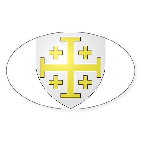 Kingdom of Jerusalem Sticker (Oval)