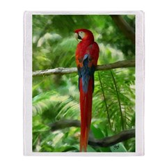 Scarlet Macaw Digital Oil Throw Blanket