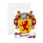 Wemyss Coat of Arms / Family Crest Greeting Cards