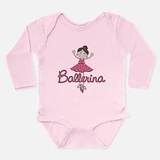 Ballerina Stick Figure Long Sleeve Infant Bodysuit