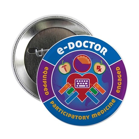 """e-Doctor 2.25"""" Button (100 pack)"""