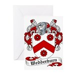 Wedderburn Coat of Arms / Crest Greeting Cards (Pa