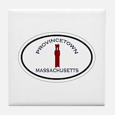 Provincetown MA - Oval Design. Tile Coaster