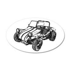 Retro Dune Buggy 22x14 Oval Wall Peel