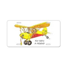 Fly With A Friend Aluminum License Plate