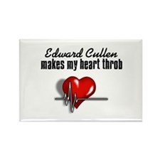 Edward Cullen makes my heart throb Rectangle Magne