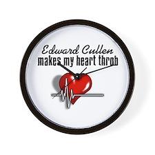 Edward Cullen makes my heart throb Wall Clock