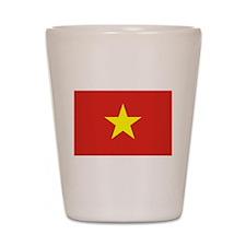 Flag of Vietnam Shot Glass
