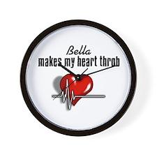 Bella makes my heart throb Wall Clock