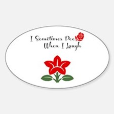 Funny Girly Pee Decal