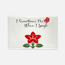 Funny Girly Pee Rectangle Magnet