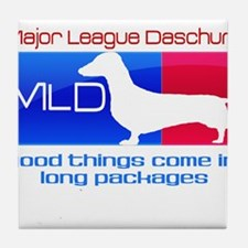 Major League Daschund Tile Coaster