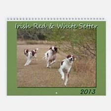 Irish Red & White Setter Calendar 2013
