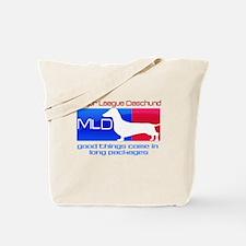 Major League Daschund Tote Bag