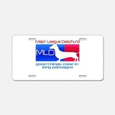 Major League Daschund Aluminum License Plate