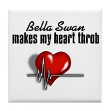 Bella Swan makes my heart throb Tile Coaster