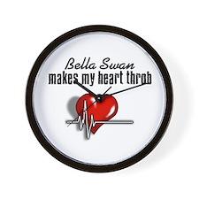 Bella Swan makes my heart throb Wall Clock