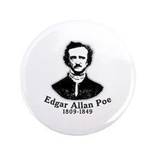 "Edgar Allan Poe Tribute 3.5"" Button"