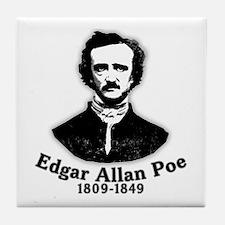 Edgar Allan Poe Tribute Tile Coaster