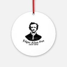 Edgar Allan Poe Tribute Ornament (Round)
