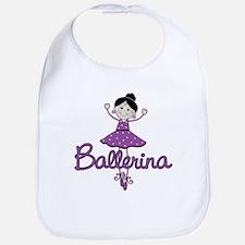 Ballerina Stick Figure Bib