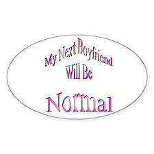 My Next Boyfriend Oval Decal
