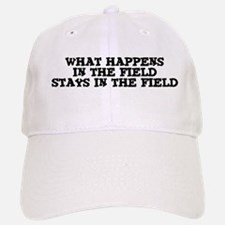 Stays in the Field Baseball Baseball Cap