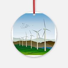 Wind Turbines Ornament (Round)