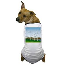 Wind Turbines Dog T-Shirt