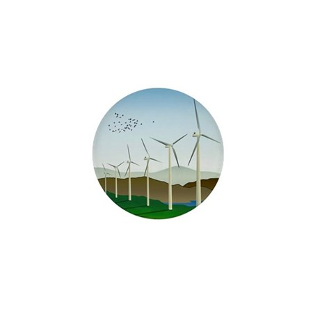 Wind Turbines Mini Button