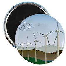 "Wind Turbines 2.25"" Magnet (100 pack)"